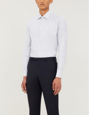 Contemporary Fit Cotton Shirt by Richard James