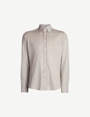 RICHARD JAMES Contemporary fit cotton-piqué shirt