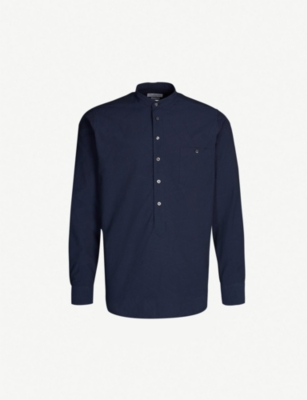 RICHARD JAMES Geometric-pattern classic-fit cotton shirt