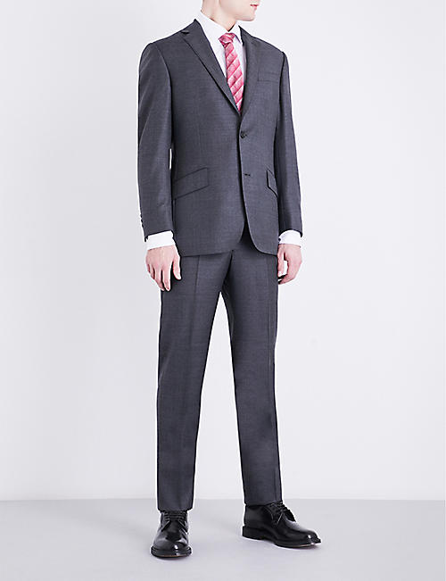 RICHARD JAMES Checked regular-fit wool trousers