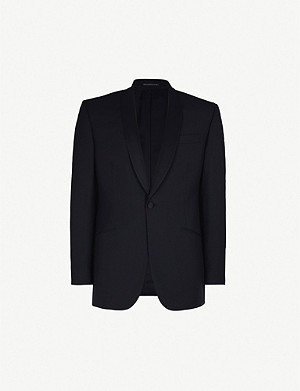 RICHARD JAMES Satin-lapel regular-fit wool and mohair-blend tuxedo jacket