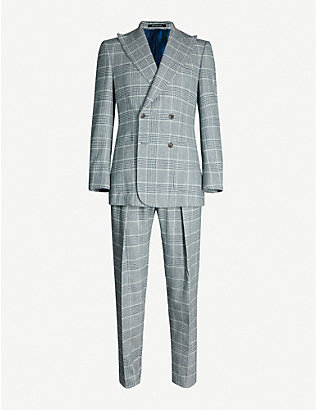 RICHARD JAMES: Checked slim-fit wool suit
