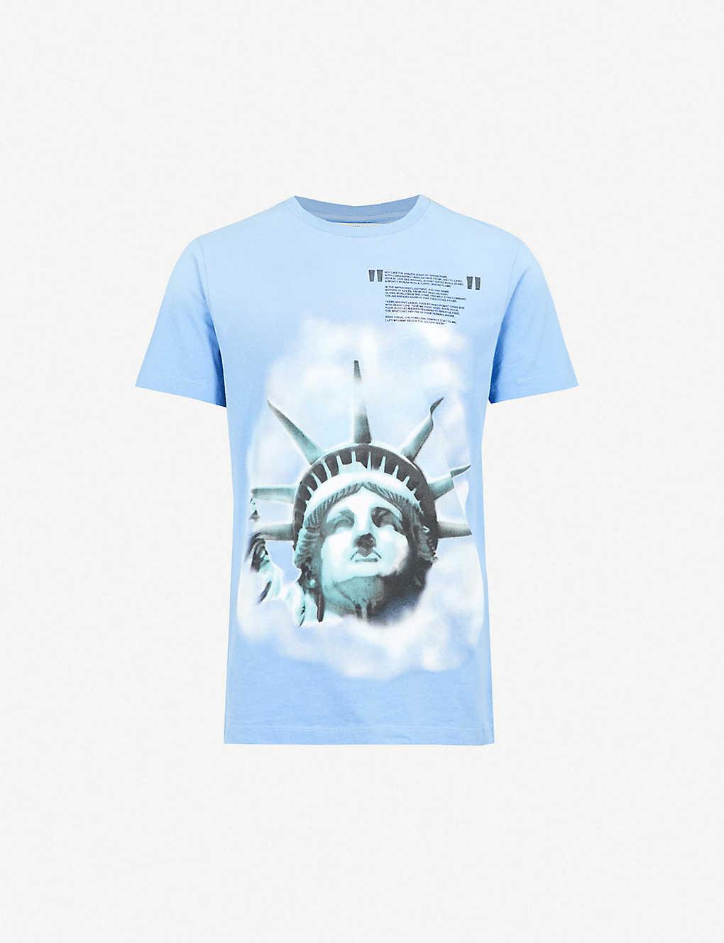 41ae13964 OFF-WHITE C/O VIRGIL ABLOH - Liberty cotton-jersey T-shirt | Selfridges.com