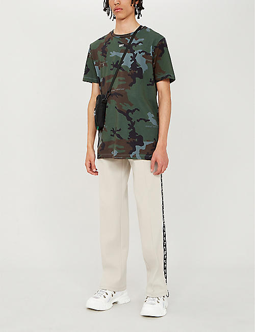 OFF-WHITE C/O VIRGIL ABLOH Incompiuto camouflage-print cotton-jersey T-shirt