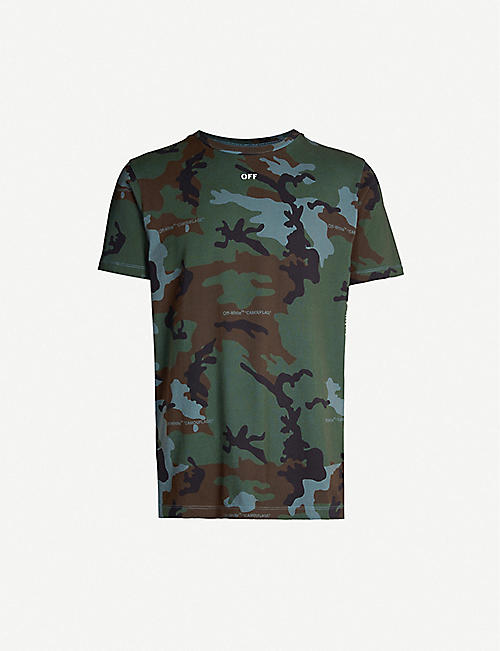 a8594bb0 OFF-WHITE C/O VIRGIL ABLOH Incompiuto camouflage-print cotton-jersey T