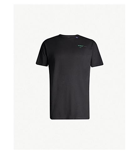 40915fa4 OFF-WHITE C/O VIRGIL ABLOH - Logo-print cotton-jersey T-shirt ...