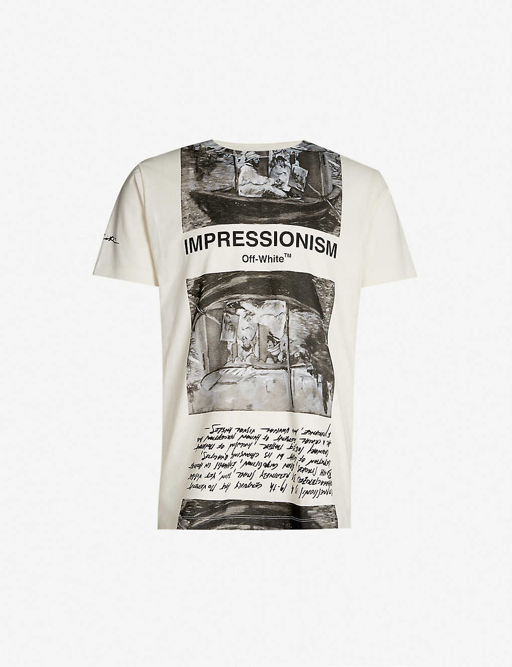 5c4055d2393 OFF-WHITE C/O VIRGIL ABLOH - Newspaper-print cotton-jersey T-shirt    Selfridges.com
