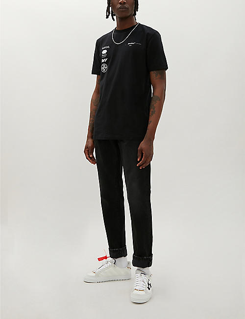 OFF-WHITE C/O VIRGIL ABLOH Arrow-print cotton T-shirt