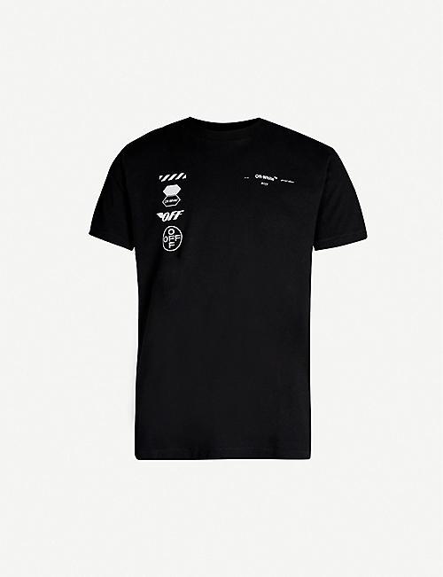 best website 1c123 5e570 OFF-WHITE C O VIRGIL ABLOH Arrow-print cotton T-shirt