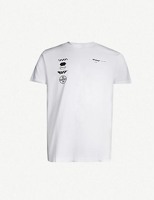 best website 250de 5e148 OFF-WHITE C O VIRGIL ABLOH Arrow-print cotton T-shirt