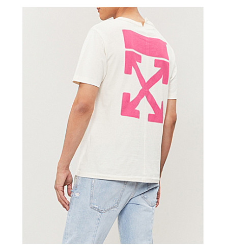 OFF-WHITE Cottons LOGO-PRINT COTTON-JERSEY T-SHIRT