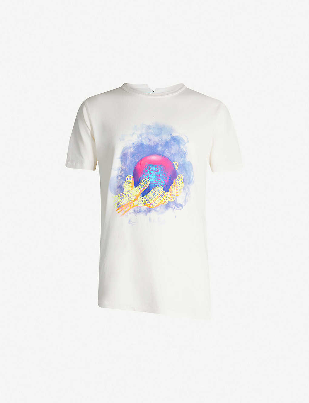 38e5569f0d4 OFF-WHITE C/O VIRGIL ABLOH - Logo-print cotton-jersey T-shirt    Selfridges.com