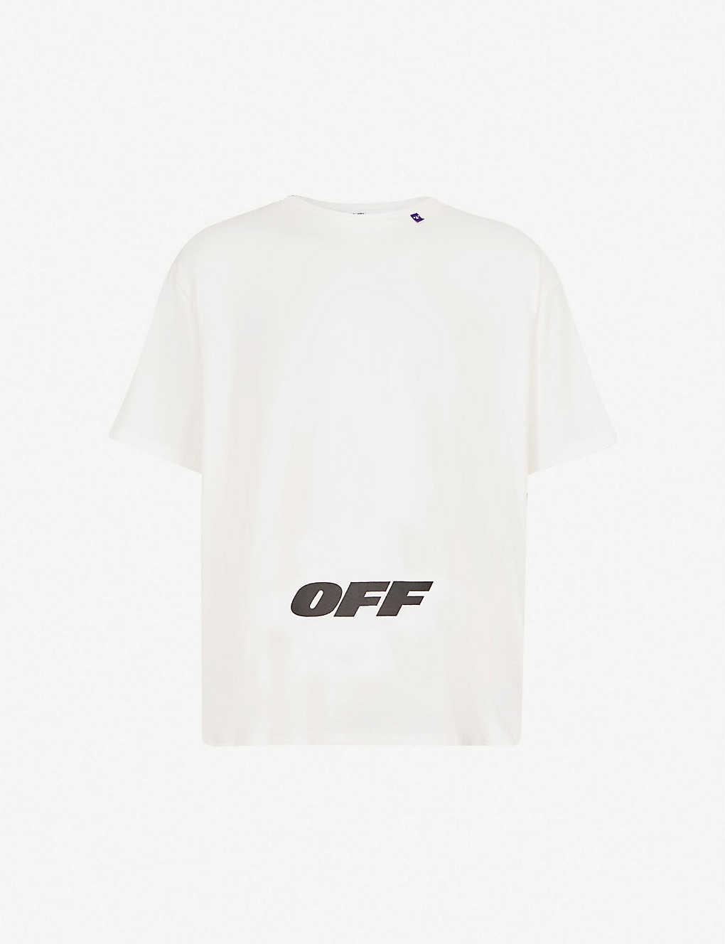 1420cc94 OFF-WHITE C/O VIRGIL ABLOH - Logo-print cotton-jersey T-shirt |  Selfridges.com