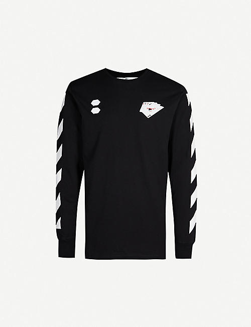 OFF-WHITE C/O VIRGIL ABLOH Logo-print cotton-jersey top