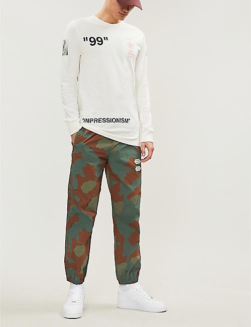 126133608 OFF-WHITE C O VIRGIL ABLOH Impressionism-print cotton-jersey top