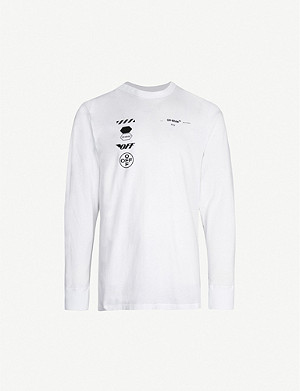 OFF-WHITE C/O VIRGIL ABLOH 箭头打印平纹针织棉 T 恤