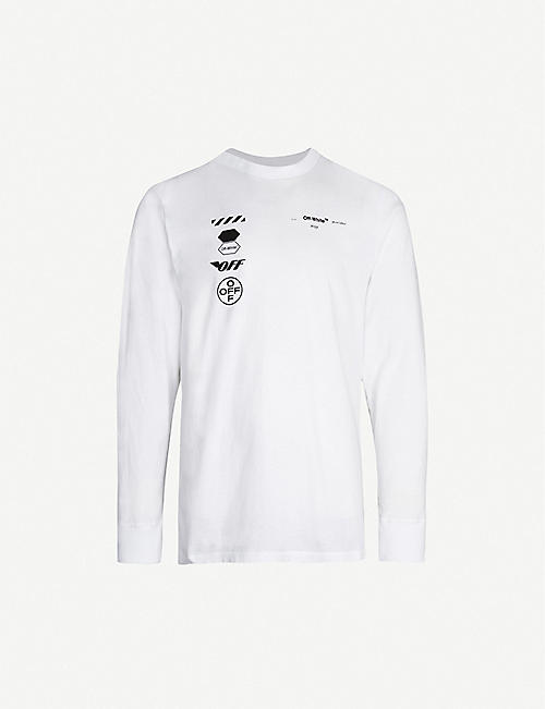 9c5ed099182e2a OFF-WHITE C O VIRGIL ABLOH Arrow-print cotton-jersey T-