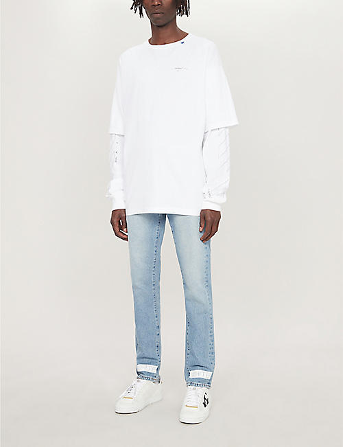 OFF-WHITE C/O VIRGIL ABLOH Double-sleeved cotton-jersey top