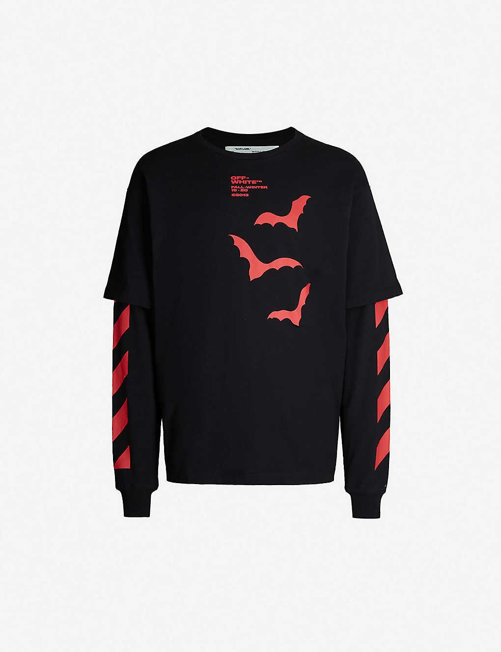 cf5b6781413 OFF-WHITE C/O VIRGIL ABLOH - Bats-print cotton-jersey T-shirt ...