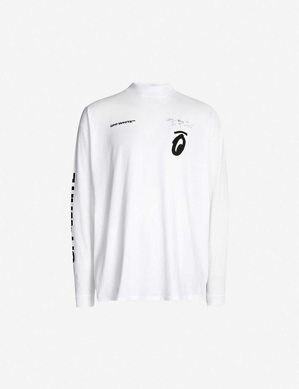38bb7176e52 OFF-WHITE C/O VIRGIL ABLOH - Graphic-print cotton-jersey top ...
