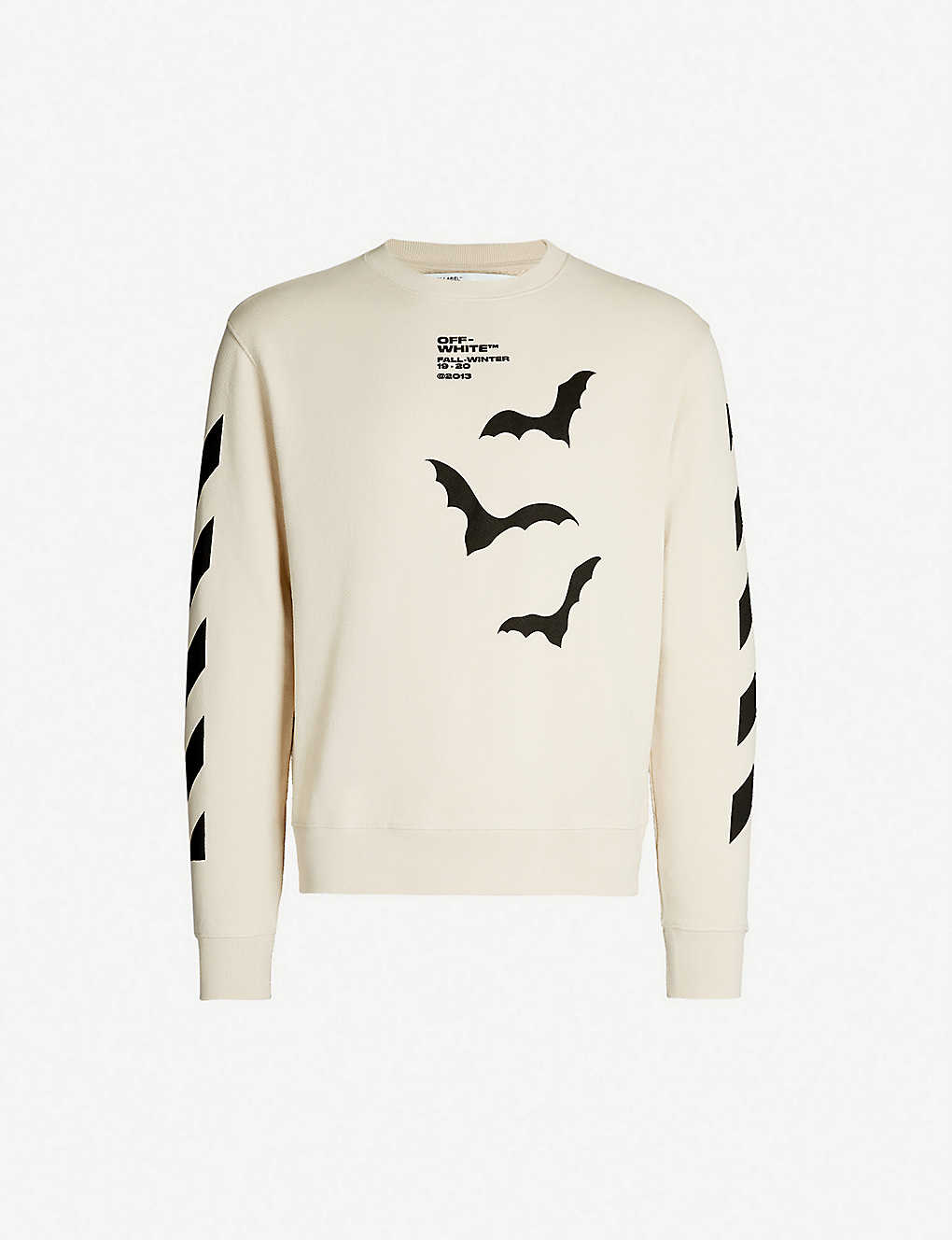 d9bfccd8e60 OFF-WHITE C/O VIRGIL ABLOH - Bat-print cotton-jersey sweatshirt ...