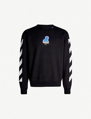 OFF-WHITE C/O VIRGIL ABLOH Graphic-print cotton-jersey sweatshirt