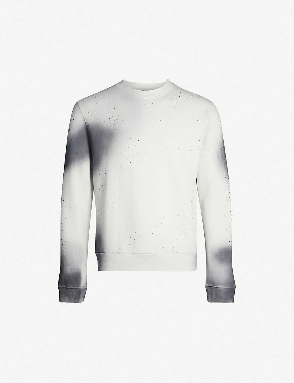 61813dff0 OFF-WHITE C/O VIRGIL ABLOH - Spray crystal-embellished cotton-jersey  sweatshirt | Selfridges.com
