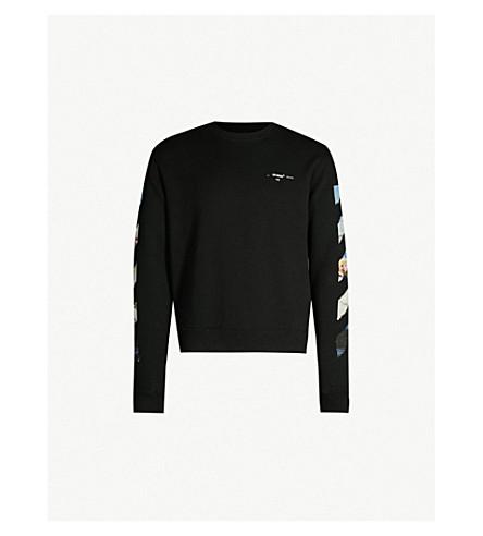 da2976f05796 OFF-WHITE C O VIRGIL ABLOH Impressionism arrows-print cotton-jersey  sweatshirt