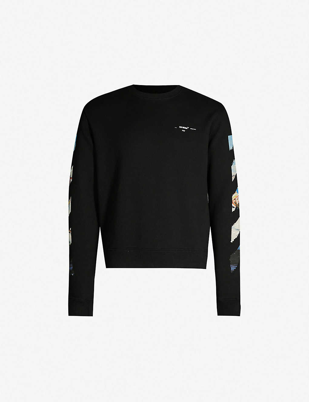 e7fb80cccd86 OFF-WHITE C O VIRGIL ABLOH - Impressionism-print cotton-jersey sweatshirt