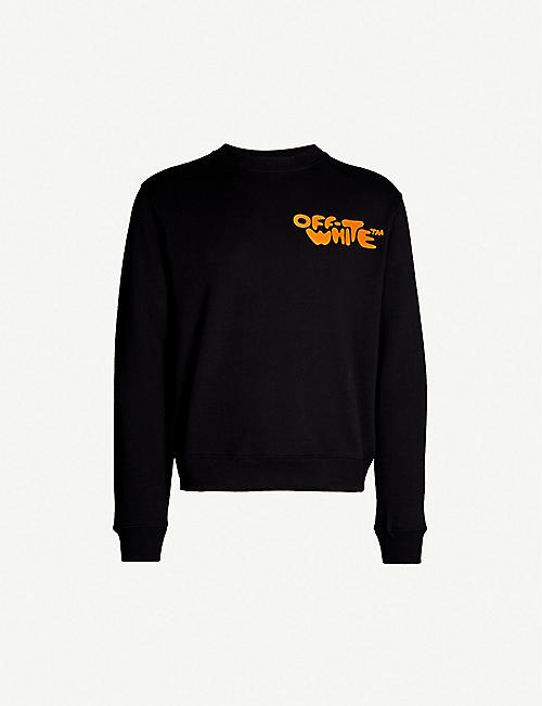 3b9c0cd45a2f OFF-WHITE C O VIRGIL ABLOH Logo-print cotton-jersey sweatshirt