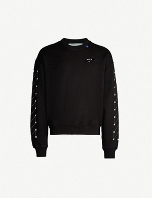 OFF-WHITE C/O VIRGIL ABLOH Graphic-print crewneck cotton-jersey sweatshirt