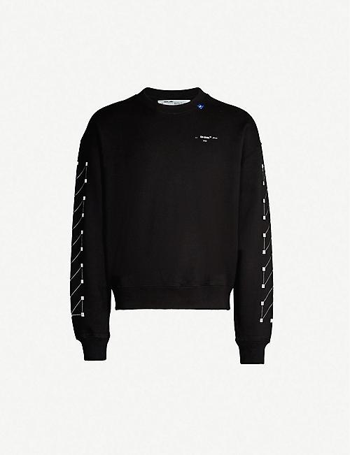 5359a2479c20 OFF-WHITE C/O VIRGIL ABLOH Graphic-print crewneck cotton-jersey sweatshirt