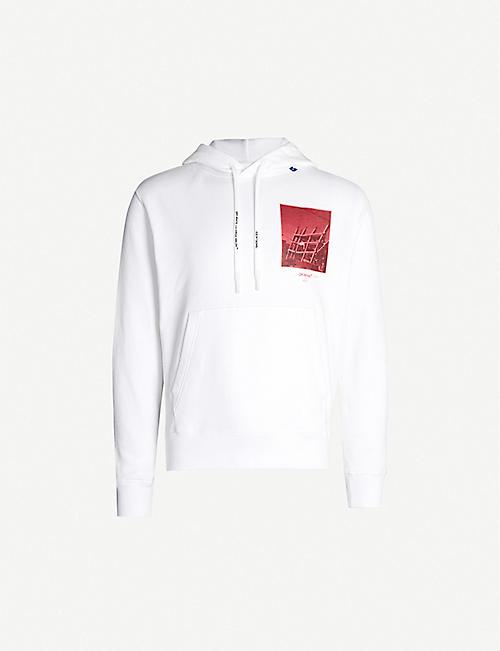 8ef99bf9 OFF-WHITE C/O VIRGIL ABLOH Graphic-print drawstring cotton-jersey hoody