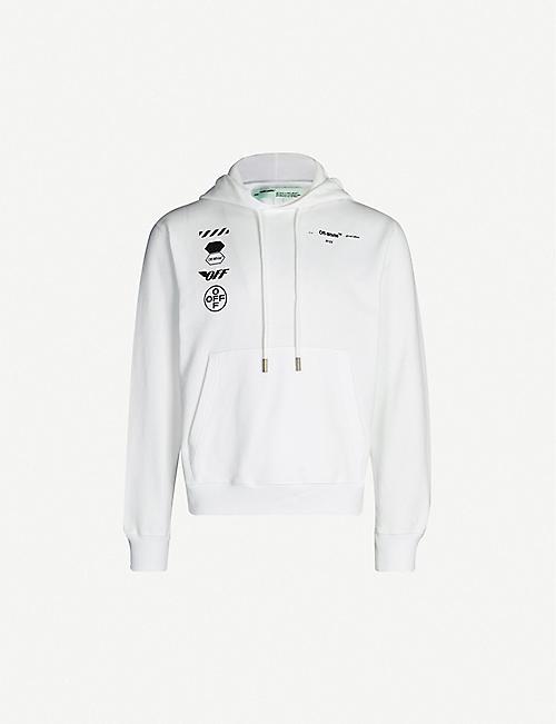 9022491364d8ed OFF-WHITE C O VIRGIL ABLOH Arrow-print cotton-jersey hoody