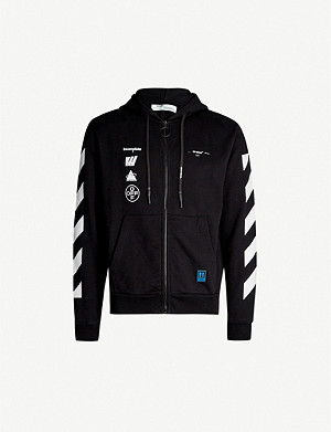 OFF-WHITE C/O VIRGIL ABLOH Mariana branded cotton-jersey hoody