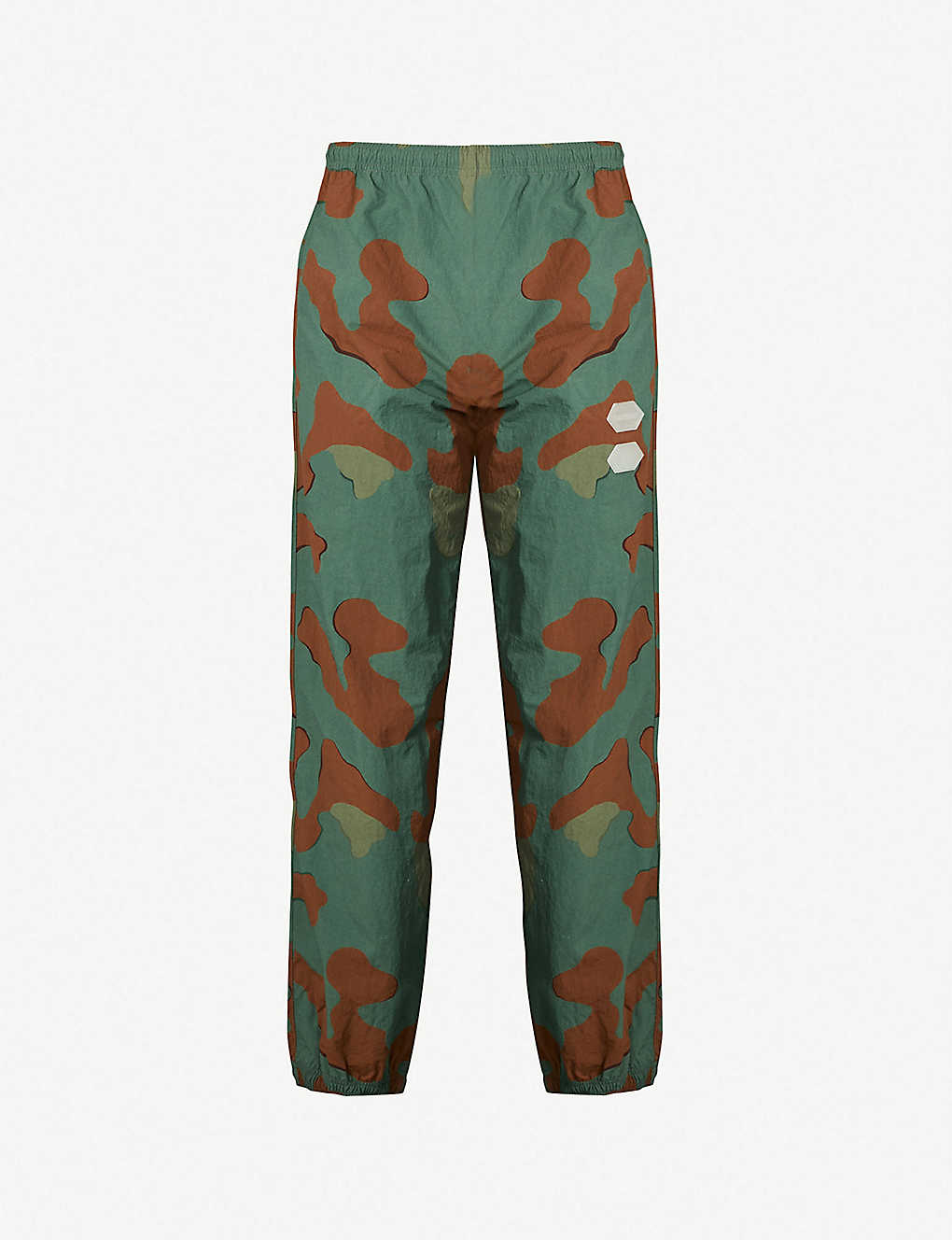 24c60621 OFF-WHITE C/O VIRGIL ABLOH - Logo-appliquéd shell jogging bottoms |  Selfridges.com