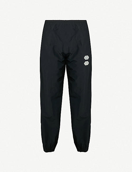 98e4d0208f26 OFF-WHITE C O VIRGIL ABLOH Logo-appliquéd shell jogging bottoms