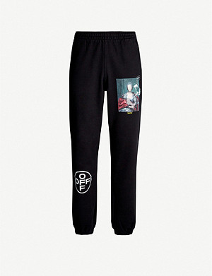 OFF-WHITE C/O VIRGIL ABLOH Mariana branded cotton-jersey jogging bottoms