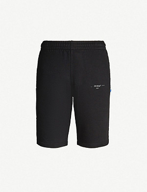 OFF-WHITE C/O VIRGIL ABLOH Branded cotton-jersey shorts
