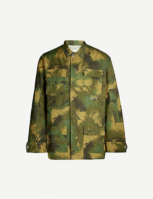 0217f33341e81 OFF-WHITE C O VIRGIL ABLOH Camo-print cotton-poplin shirt
