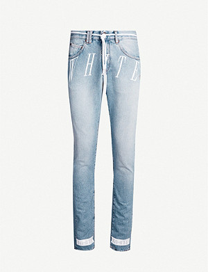 OFF-WHITE C/O VIRGIL ABLOH Faded wash slim-fit jeans