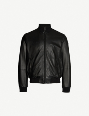 EMPORIO ARMANI Nappa-leather bomber jacket