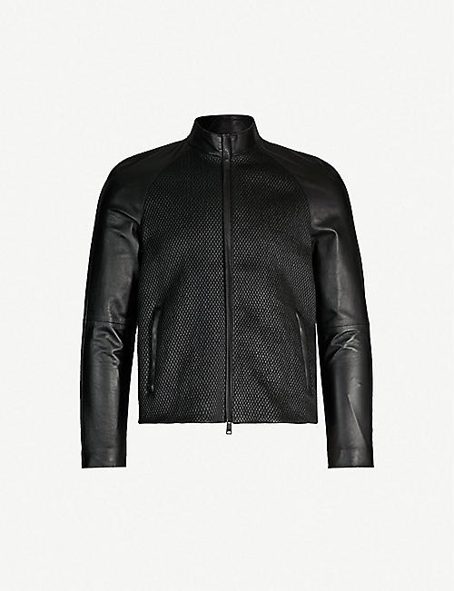 1a88bcd80 EMPORIO ARMANI - Leather - Leather jackets - Coats & jackets ...