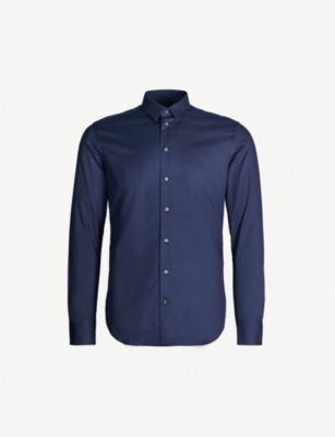EMPORIO ARMANI Slim-fit stretch-cotton shirt