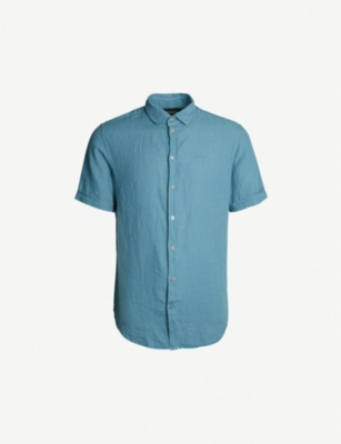 EMPORIO ARMANI Regular-fit linen shirt
