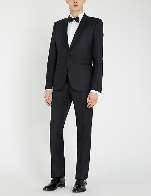 EMPORIO ARMANI Slim-fit wool and silk-blend two-piece suit