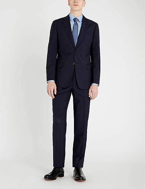 EMPORIO ARMANI G-line striped wool suit