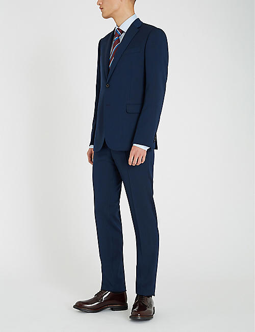 EMPORIO ARMANI Academy-fit wool suit