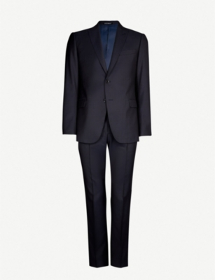 EMPORIO ARMANI G-line single-breasted wool and silk suit