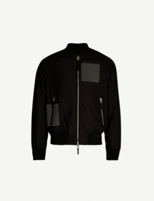 EMPORIO ARMANI Cotton-blend bomber jacket